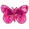 Motif Sequin/beads Butterflies Fuchsia 2-tone